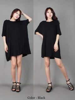 D562-AnnaKastle-New-Womens-Crewneck-Side-Pocket-Oversized-Jersey-Tshirt-Dress-Black-08